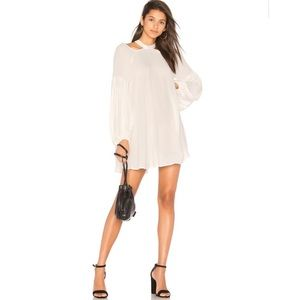 Free People drift away cold shoulder tunic ivory